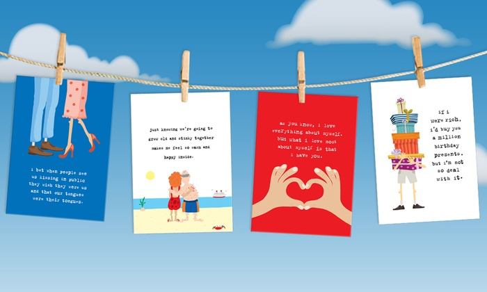 Uncooked: Funny Greeting Cards and Gifts from Uncooked (68% Off). Two Options Available.