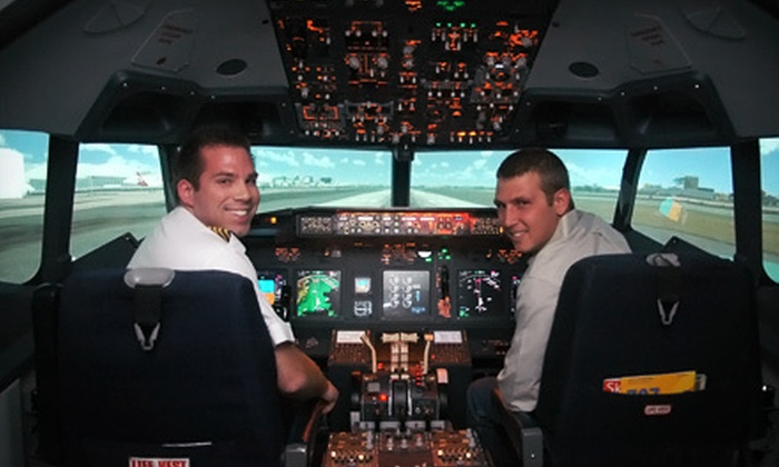 Flightdeck Simulation Center - Anaheim: $44 for a 30-Minute Boeing 737 Flight-Simulator Experience at Flightdeck Simulation Center ($89 Value)
