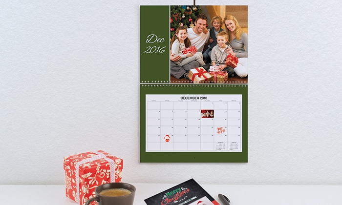 """Photobook America: One, Two, or Five 11"""" x 8"""" or 12"""" x 12"""" Photo Calendars from Photobook America (Up to 85% Off)"""