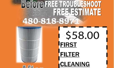 $58 for $139 Toward Swimming Pool Filter Cleaning - Cool Times 635edf86-a786-1496-af48-5ba01aef4711