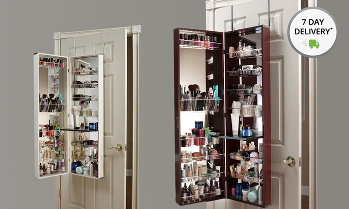 Awesome Over The Door Mirror And Cosmetics Armoire ...