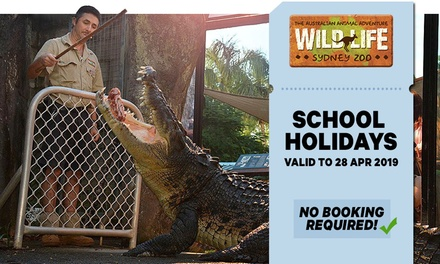 WILD LIFE Sydney: Child Aged 4-15 ($29.70) or Adult ($39.60) School Holiday Entry, Darling Harbour (Up to $44 Value*)