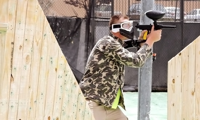 Hinkle Family Fun Center - Northeast Heights: Two or Four Groupons, Each Good for a Single All-Day Paintball Pass at Hinkle Family Fun Center (50% Off)