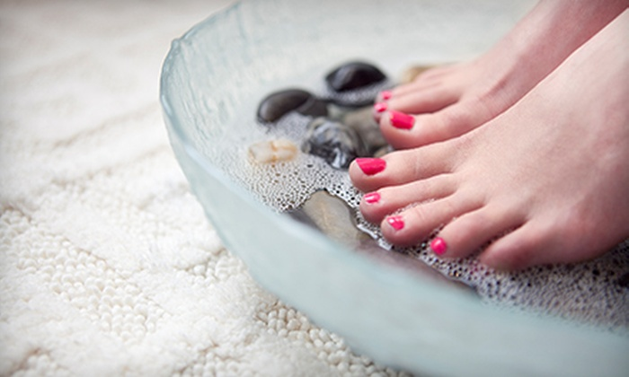 The Foundation Studio - Highland Creek: One or Three Spa Mani-Pedis at The Foundation Studio (Up to 54% Off)