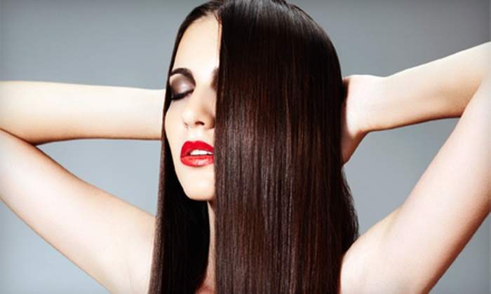 Blondie's Salon - Shafer Plaza: Haircut with Conditioning or Highlights, or Keratin Hair-Smoothing Treatment at Blondie's Salon (Up to 73% Off)