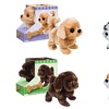 Battery-Operated Plush Dogs with Lifelike Movements (4-Pack)