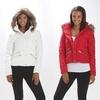 Women's Double Zipper Faux Fur Hooded Jacket