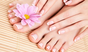 Cultured Nails: Pedicure with Optional Manicure or Three Mani-Pedis at Cultured Nails (Up to 54% Off)