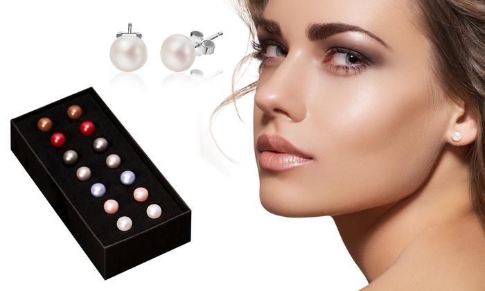 Set da 7 paia di orecchini di perle