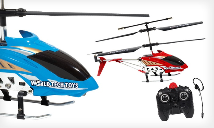 Command Voice-Controlled I/R Helicopter: $39 for a 3.5-Channel Command Voice-Controlled Helicopter with Headset in Blue or Red ($150 List Price). Free Shipping.