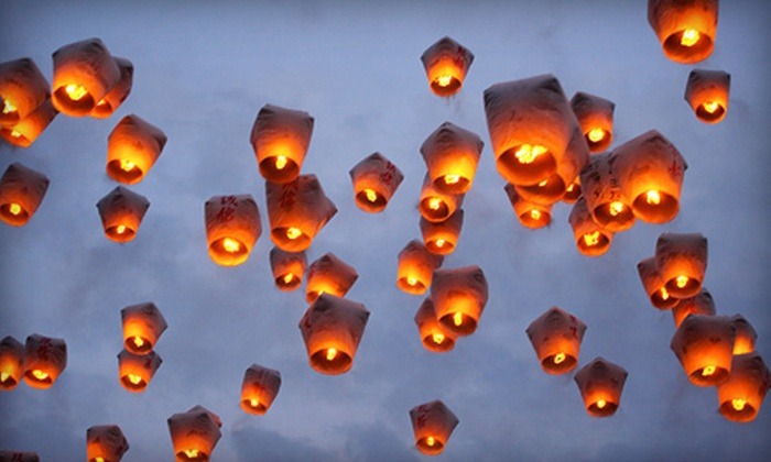 Chinese Sky Lanterns: Chinese Lanterns from Chinese Sky Lanterns (Up to US$100 Value). Two Options Available.