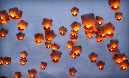 Chinese Lanterns from Chinese Sky Lanterns (Up to US$100 Value). Two Options Available.