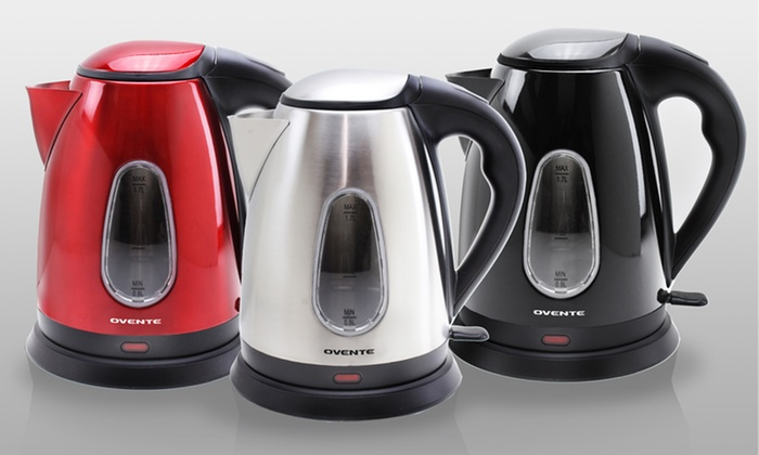 Ovente Stainless Steel Electric Kettles: Ovente Stainless Steel Electric Kettles in Black, Red, or Brushed Stainless Steel. Free Shipping and Returns.