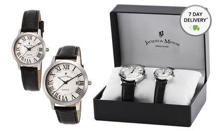 Jacques du Manoir Set of Men's and Women's Watches. Free Returns.