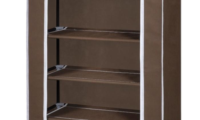 Armario de tela organizador de calzado groupon goods - Organizador de zapatos para armario ...