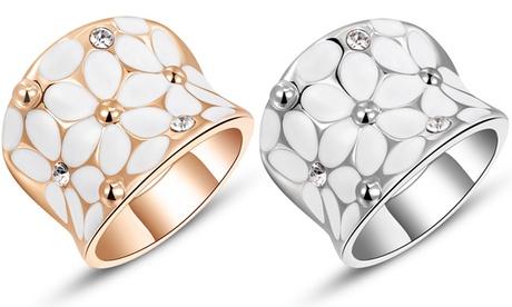 1 o 2 anillos de Daisy decorados con cristales