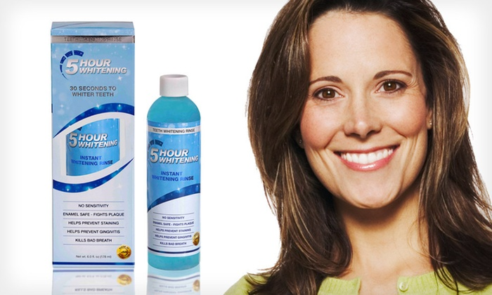 5 Hour Whitening Mouthwash: $13.99 for BleachBright 5 Hour Whitening Mouthwash ($39.99 List Price)