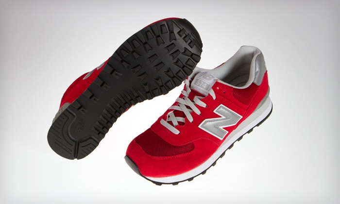 New Balance Men's Varsity 574 Sneakers: $45 for New Balance Men's Varsity 574 Sneakers in Retro Red. Shipping Included ($75.94 Total Value). 5 Sizes Available.