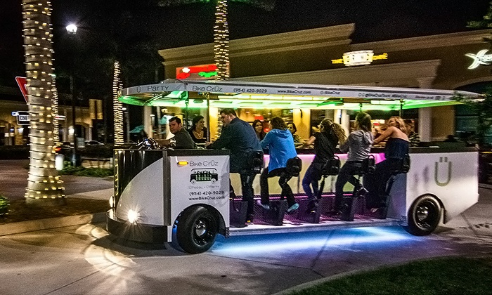 BikeCrÜz - Boca Raton and Boynton Beach: Two Seats on a Party Bike Tour, or Chartered Tour for 12 with Bike CrÜz (Up to 50% Off)