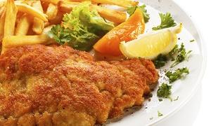 Ankes Restaurant: 500 Gramm Schnitzel Wiener Art und Pommes frites für Zweiin Ankes Restaurant für 26,90 €