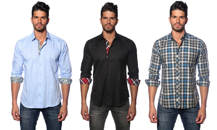 Men's Fitted Button Down Shirts | Groupon Goods