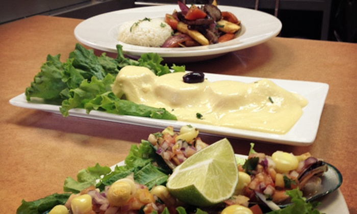 Uchu Peruvian Cuisine - Robbinsdale - Crystal - New Hope: Two-Course Dinner for Two or Four at Uchu Peruvian Cuisine (Up to 60% Off)