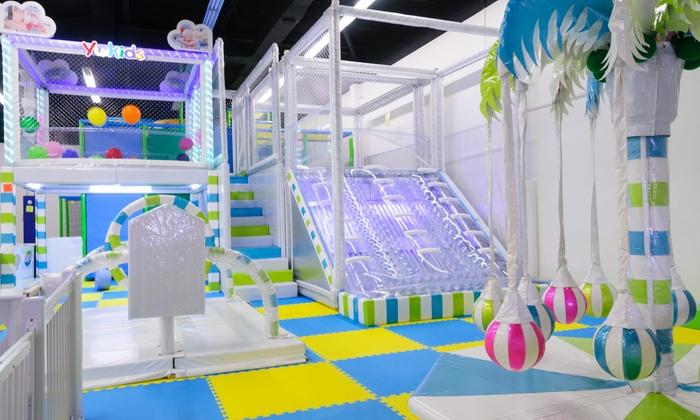 Award winning indoor playground kidsopolis groupon for Indoor play activities