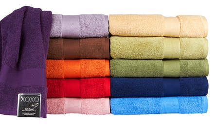 "groupon daily deal - Set of 6 XOXO 100% Egyptian Cotton 30""x56"" Bath Towels. Multiple Colors Available. Free Returns."