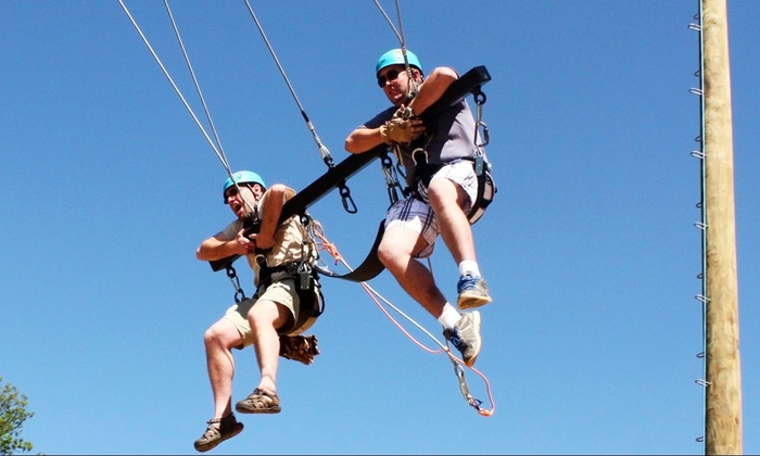 ZipNTime - Lakeshore: Zipline Tour, Swing Ride, or Swing and Superhero Event at ZipNTime (Up to 48% Off). Five Options Available.