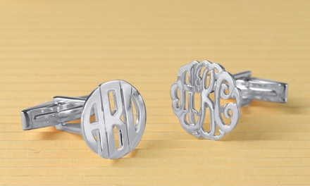 Monogrammed Cufflinks from Monogramhub.com (Up to 65% Off). Three Options Available.