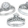 2-Piece Cubic Zirconia Engagement Ring Set in Sterling Silver