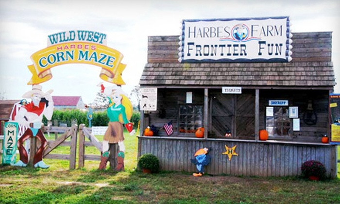 Harbes Western Farm - Laurel: $12 for Admission for Two to a Western-Themed Corn Maze at Harbes Western Farm ($25.90 Value)
