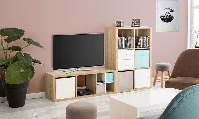 meuble tv stockholm groupon. Black Bedroom Furniture Sets. Home Design Ideas