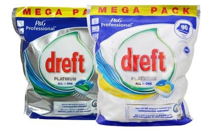 90, 180, 360 ou 540 Tablettes pour vaisselle Dreft Platinium All in One citron ou original dès 22,99 €