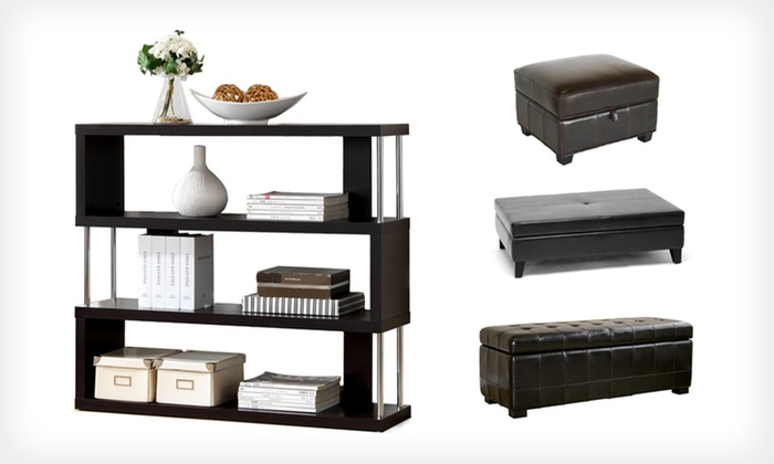 Modern Home Storage: Modern Bookshelves, Ottomans, and Home Storage (Up to 84% Off). Multiple Options and Colors Available. Free Shipping.