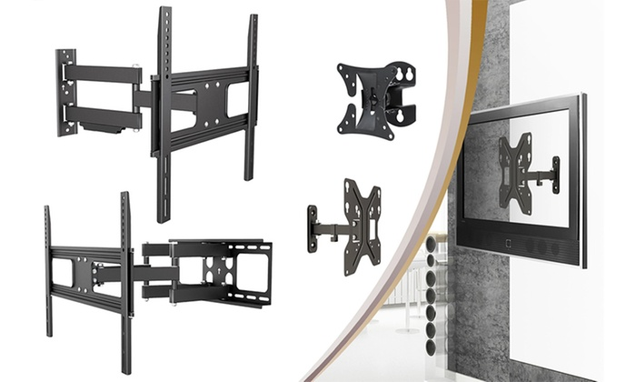 Full Motion Tv Wall Mount Reviews argom flat panel tv wall mounts | groupon goods