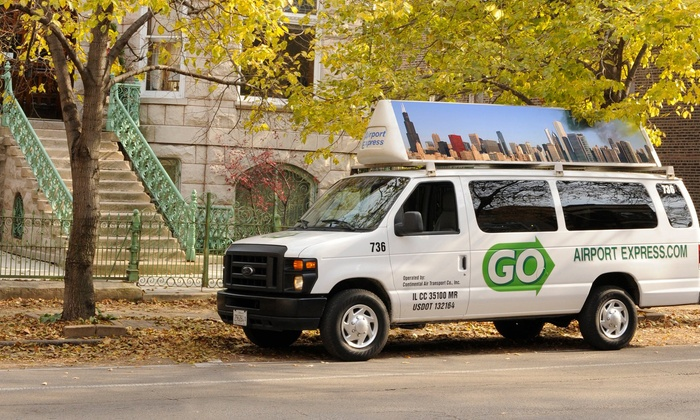GO Airport Express - Chicago: One-Way Transportation to or from Midway or O'Hare from GO Airport Express (Up to 41% Off)