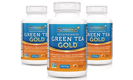 Nutrigold Green Tea Gold Weight-Loss Supplements 3-Bottle-Pack