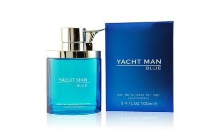 Myrurgia Yacht Man Blue Eau de Toilette Spray for Men; 3.4 Fl. Oz.