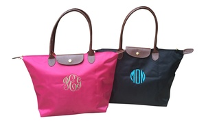 Social Monograms: $22.99 for a Custom Monogrammed Folding Nylon Tote Bag from Social Monograms ($49.99 Value)
