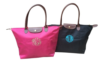 $22.99 for a Custom Monogrammed Folding Nylon Tote Bag from Social Monograms ($49.99 Value)