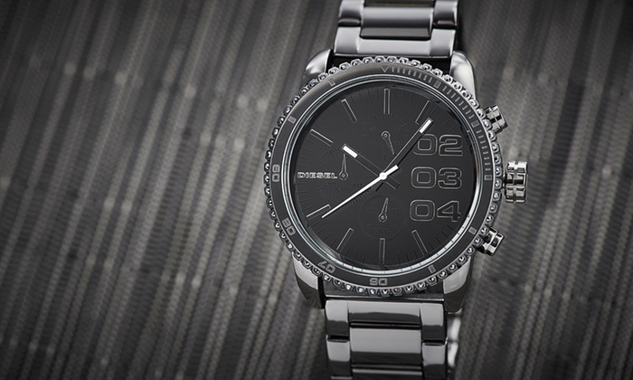 Diesel: $149 for a Diesel Women's Gunmetal Chronograph Watch ($240 List Price). Free Shipping and Returns.