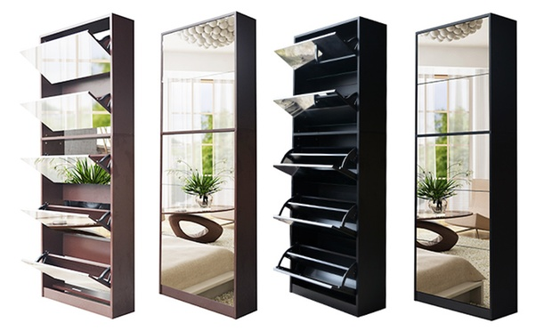 Shoe Cabinet With Mirror Groupon