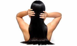 Edan Edan Salon: Brazilian-Blowout Keratin Treatment with Optional Haircut at Edan Edan Salon (Up to 79% Off)