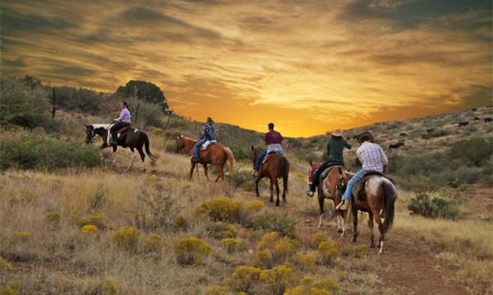 White Tank Stables - White Tank Stables: Two-Hour Sunrise or Sunset Horseback Trail Ride for Two from White Tank Stables (Up to 47% Off)