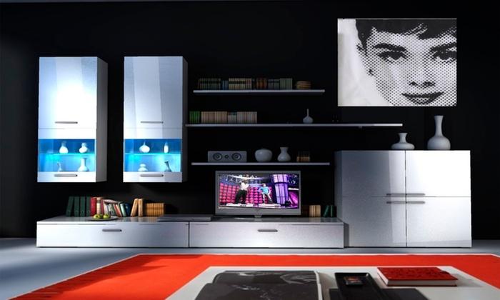 Tv Op Plank Aan Muur.Tv Meubel Voor Aan De Muur Groupon Goods