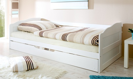 canap avec lit tiroir groupon. Black Bedroom Furniture Sets. Home Design Ideas