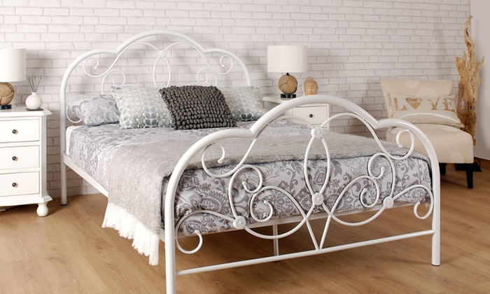 Versailles Metal Bed Frame Groupon Goods