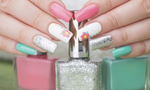 Nails Design: Acrylic Nails and One Pedicure, or Acrylic Nails with One Fill and Two Pedicures at Nails Design (Up to 47% Off)