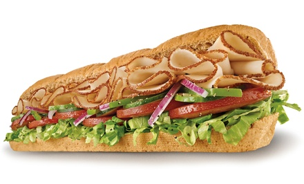 Two Regular Footlong Combos or One Fresh Fit or Classic Combo Party Platter at Subway (Up to 44% Off)
